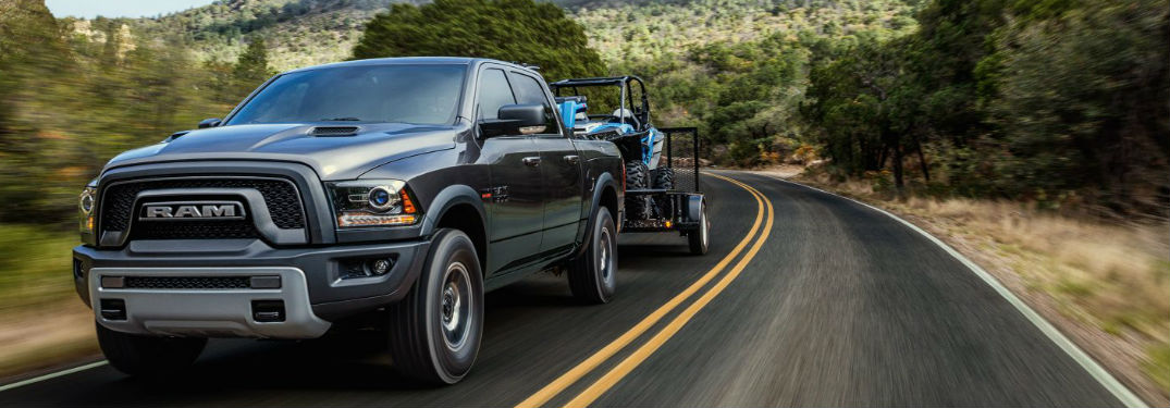 Powerful engine options available in new 2019 Ram 1500 pickup truck provide incredible capability and towing power