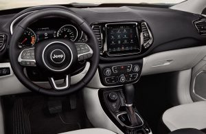 2019 Jeep Compass dashboard and steering wheel