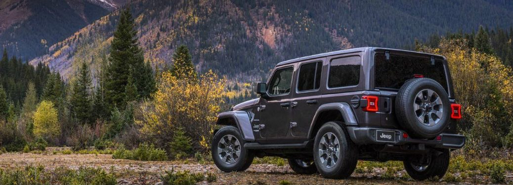2019 Jeep Wrangler side and rear profile