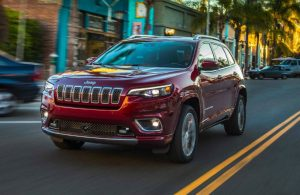 2019 Jeep Cherokee driving on a city street