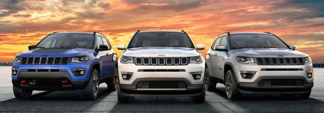 Variety of color options available in new 2020 Jeep Compass crossover SUV
