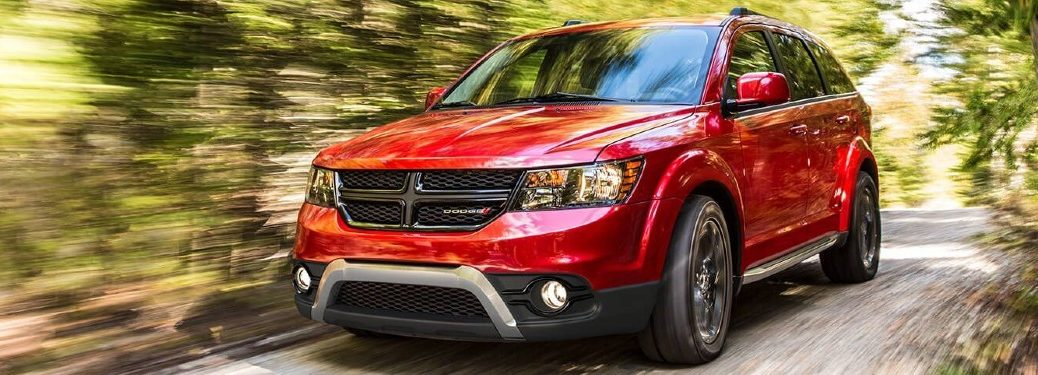 2020 Dodge Journey driving on a road