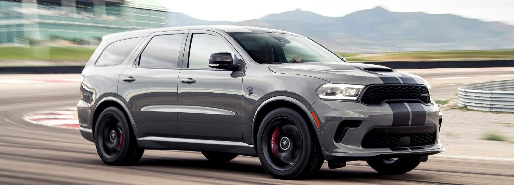 2021 Dodge Durango SRT Hellcat driving on a track