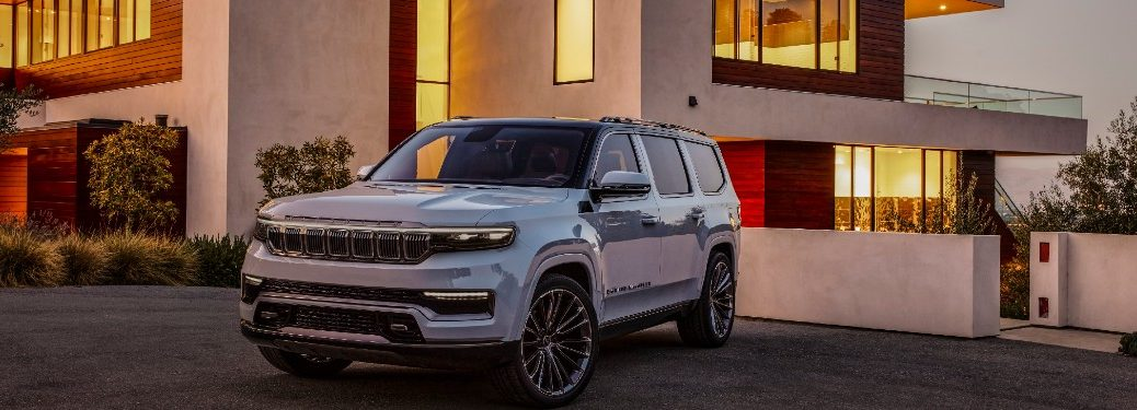 2021 Jeep Grand Wagoneer parked in a driveway