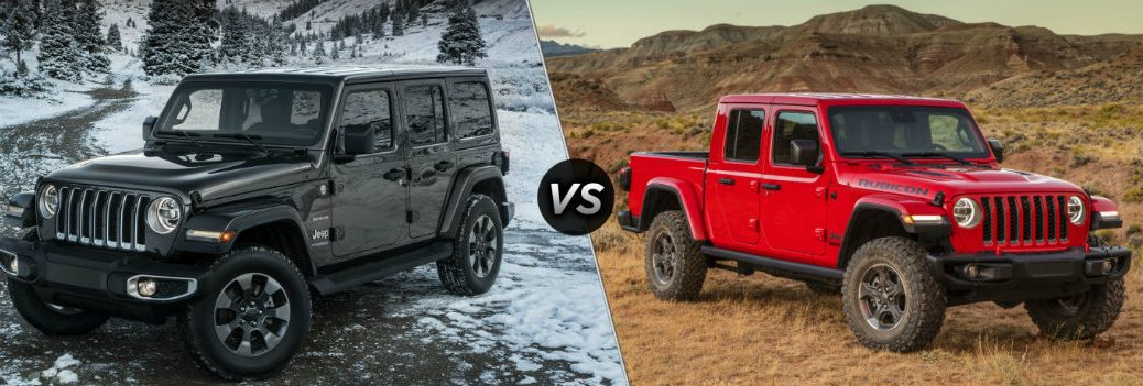 2019 Jeep Wrangler vs 2020 Jeep Gladiator