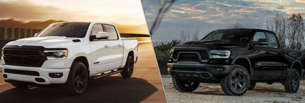 2020 Ram 1500 Night Edition and Rebel Black Edition