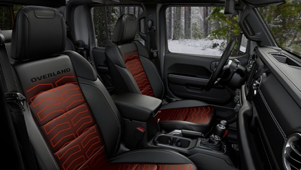 Jeep North Edition Overland heated seats and steering wheel