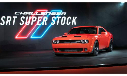 2020 Dodge Challenger SRT Super Stock stage debut with red paint color