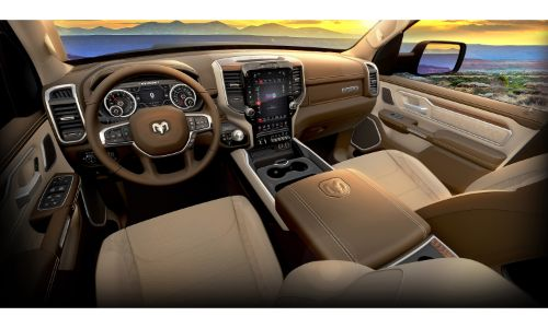 2020 Ram 1500 Laramie Southwest Edition interior shot of upholstery and accents