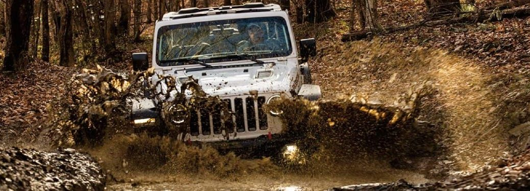 2021 Jeep Wrangler driving through water