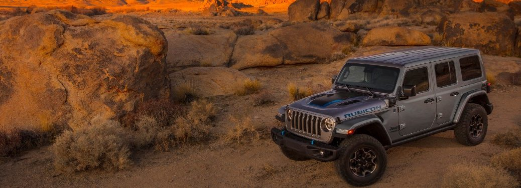 2021 Jeep Wrangler 4xe front and side profile
