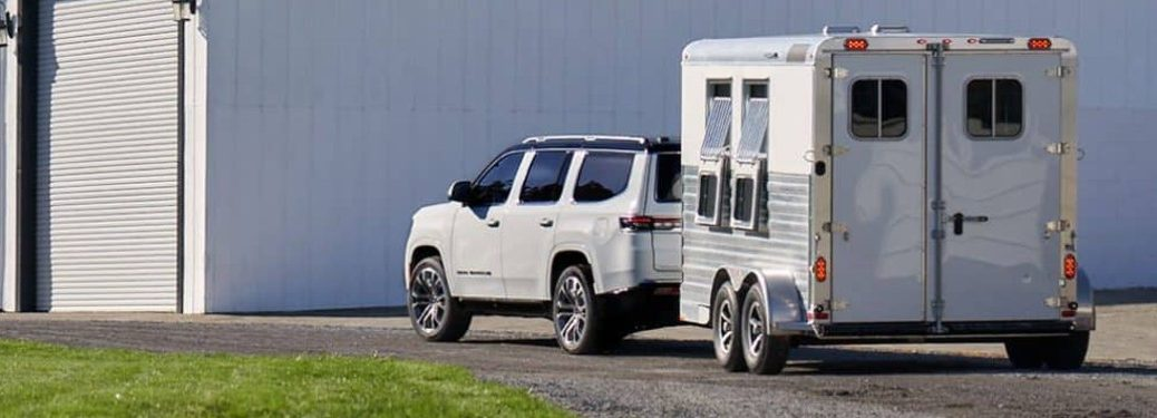 2022 Jeep Grand Wagoneer towing a trailer