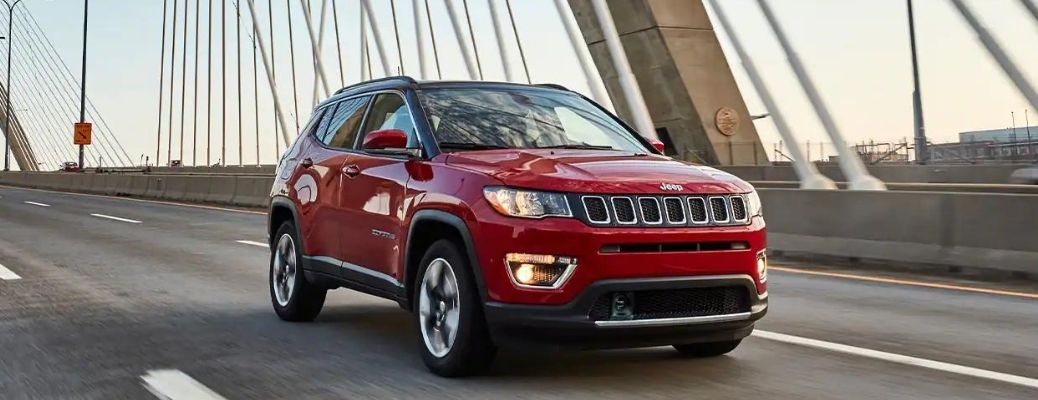 2021 Jeep Compass side and front view