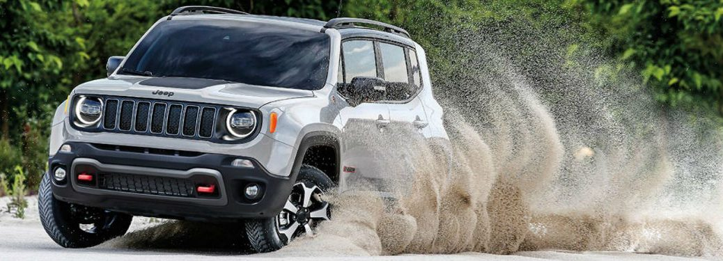 2019 Jeep Renegade driving on sand