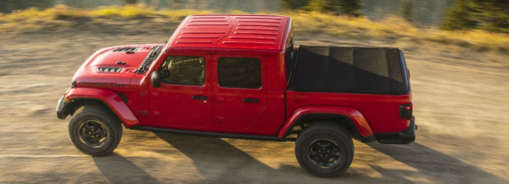 2020 Jeep Gladiator driving on a dirt road