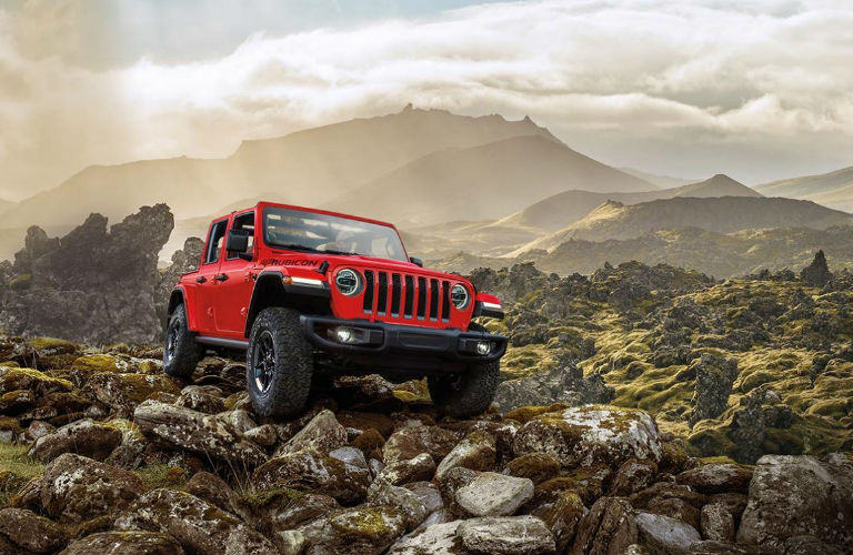 2020 Jeep Wrangler driving off-road