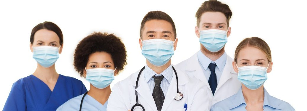 Medical professionals with masks on