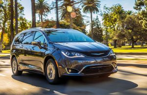 2019 Chrysler Pacifica Hybrid on the road