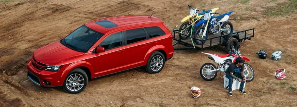 2019 Dodge Journey parked in a desert