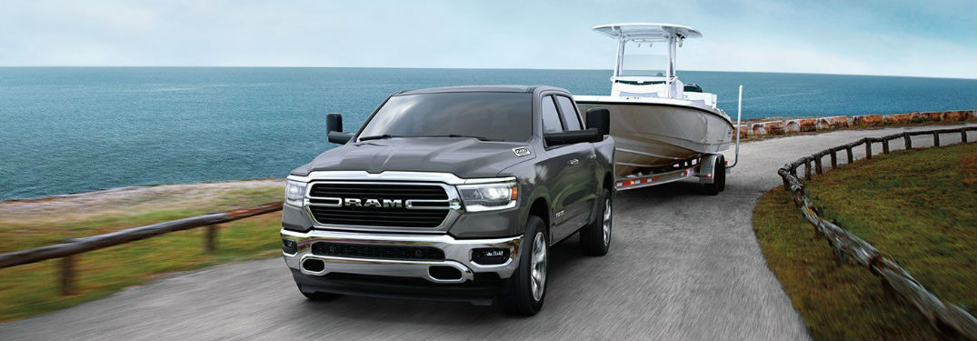 2020 Ram 1500 pickup truck offers a powerful towing capacity and long list of towing features