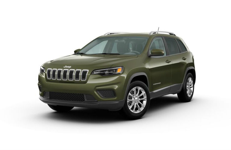 2020 Jeep Cherokee Olive Green Pearl-Coat