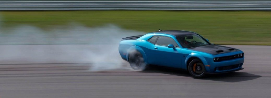 2020 Dodge Challenger driving on a track