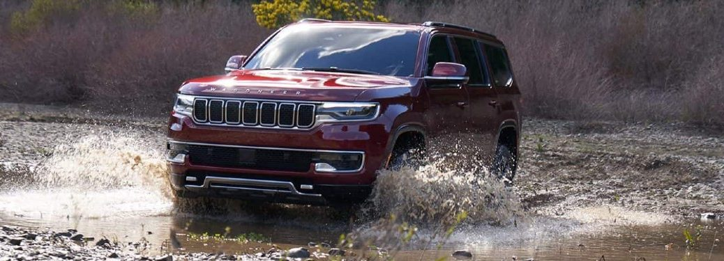 2022 Jeep Wagoneer driving through water