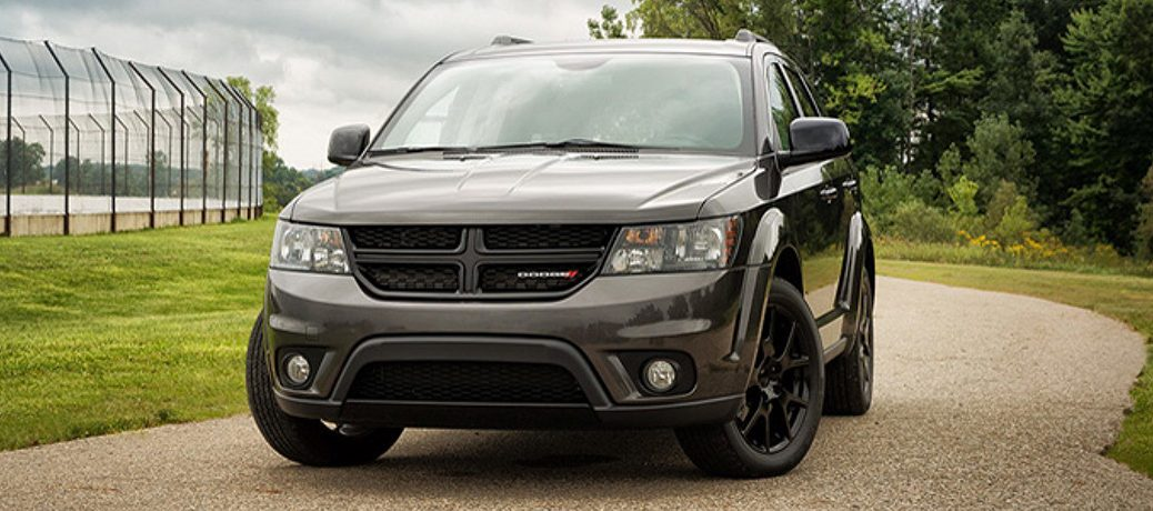 2019 Dodge Journey driving down a road