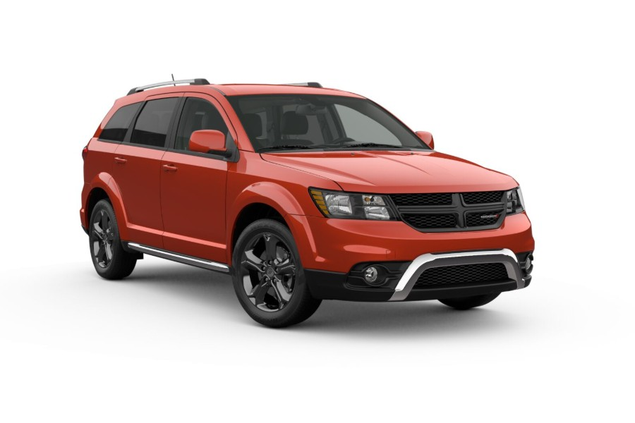 2019 Dodge Journey in Blood Orange Clear-Coat color