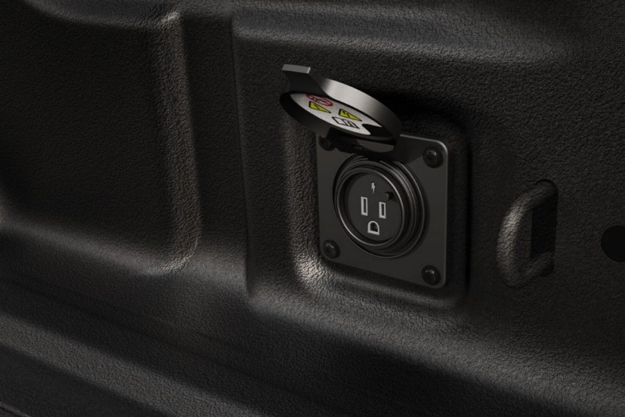 Plug with its cover off in the 2020 Jeep Gladiator