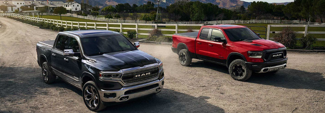 What colors options are available when buying a new 2019 Ram 1500?
