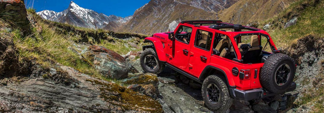 Highly capable four-wheel-drive systems available in the new 2020 Jeep Wrangler SUV
