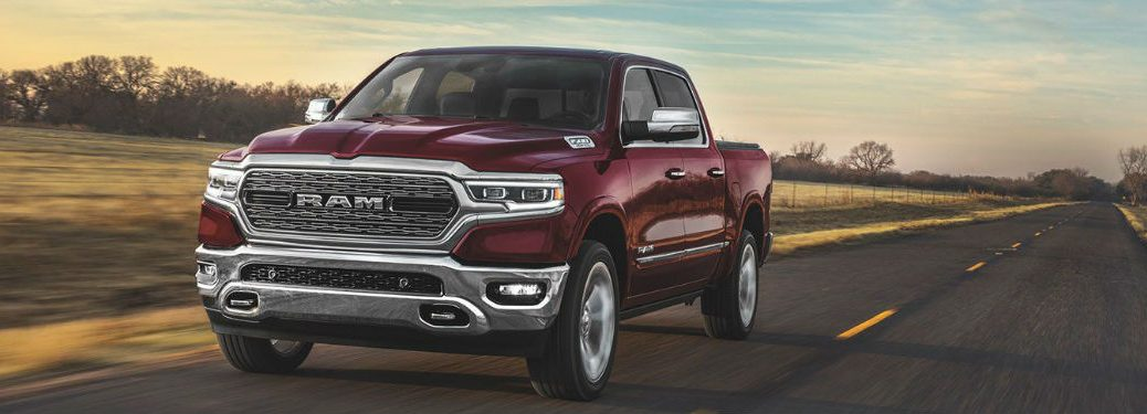 2020 Ram 1500 driving on a road
