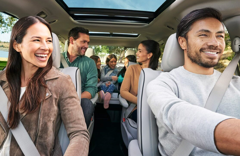 2020 Chrysler Pacifica interior with passengers seated