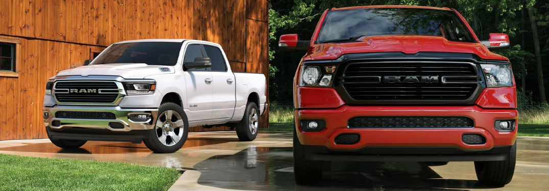 Long list of technology features and comfort options available in new 2020 Ram 1500 pickup truck