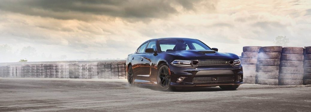 2020 Dodge Charger driving on a track