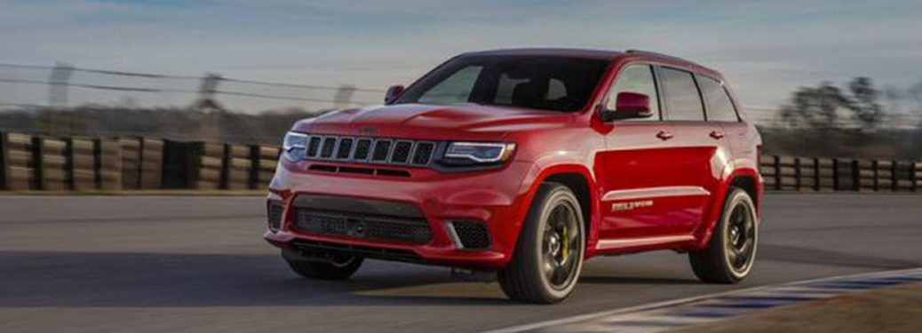 2020 Jeep Grand Cherokee driving on a road