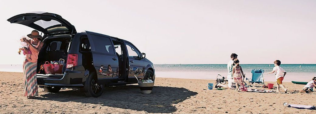 2020 Dodge Grand Caravan parked on a beach