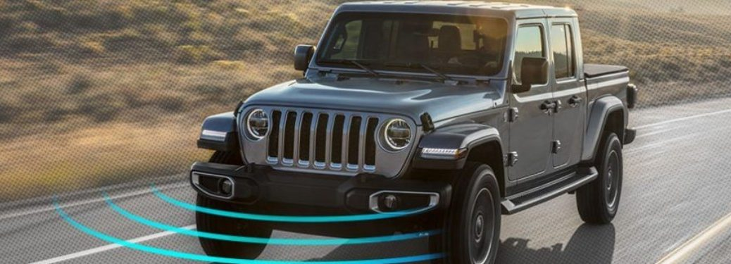 2020 Jeep Gladiator driving on a road
