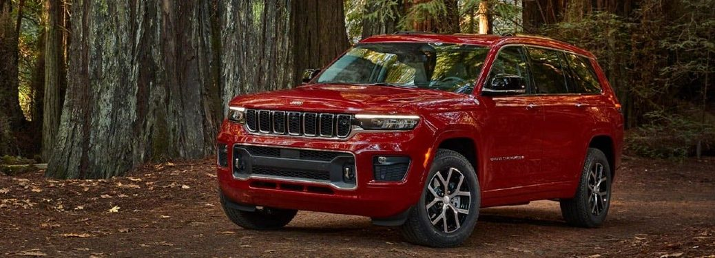 2021 Jeep Grand Cherokee L front and side profile