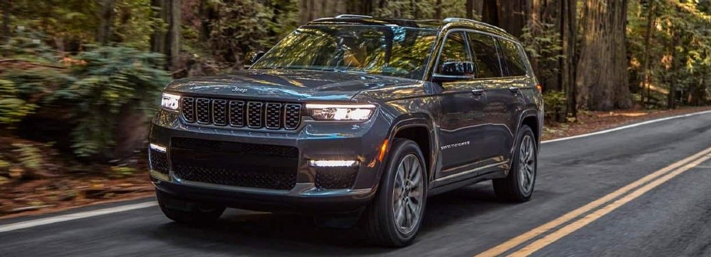 2021 Jeep Grand Cherokee L driving on a road