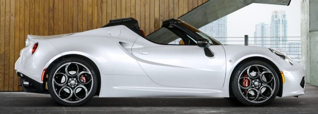2020 Alfa Romeo 4C Spider from exterior passenger side