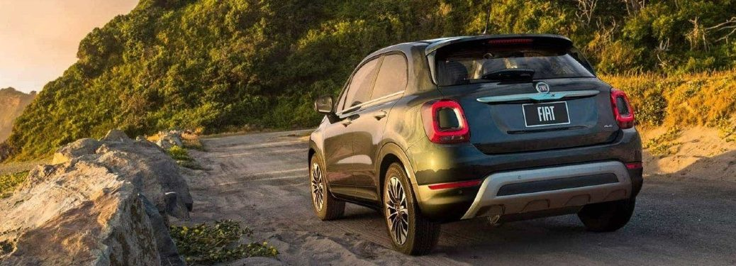 2020 FIAT 500X driving on a dirt road