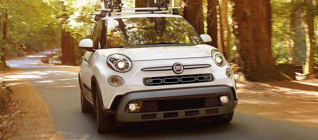 2020 FIAT 500L driving on a road