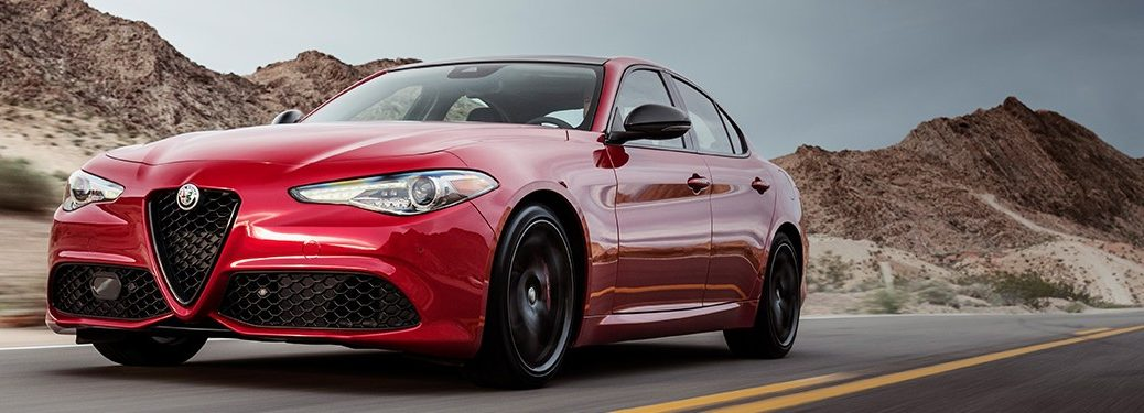 2020 Alfa Romeo Giulia driving on a road
