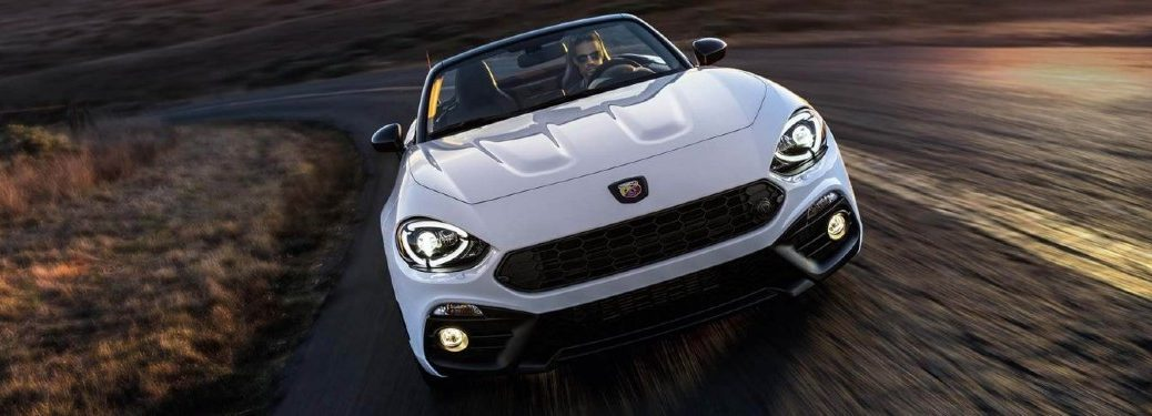 2020 FIAT 124 Spider driving on a road