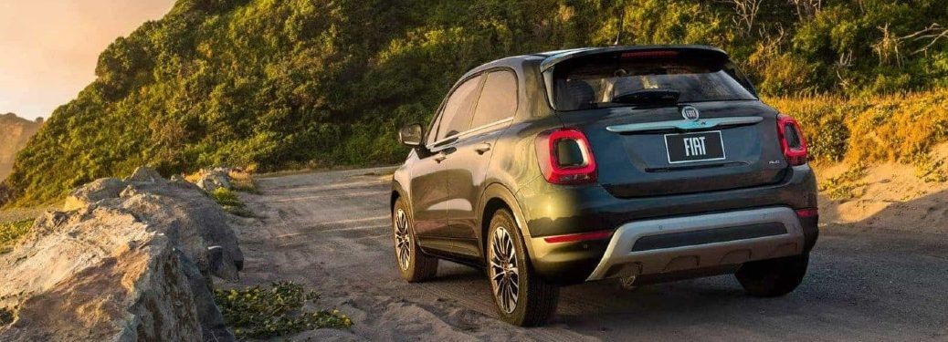 2021 FIAT 500X driving on a dirt road
