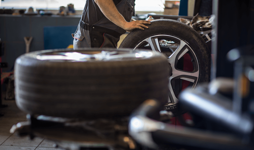New-tires-at-automtive-shop