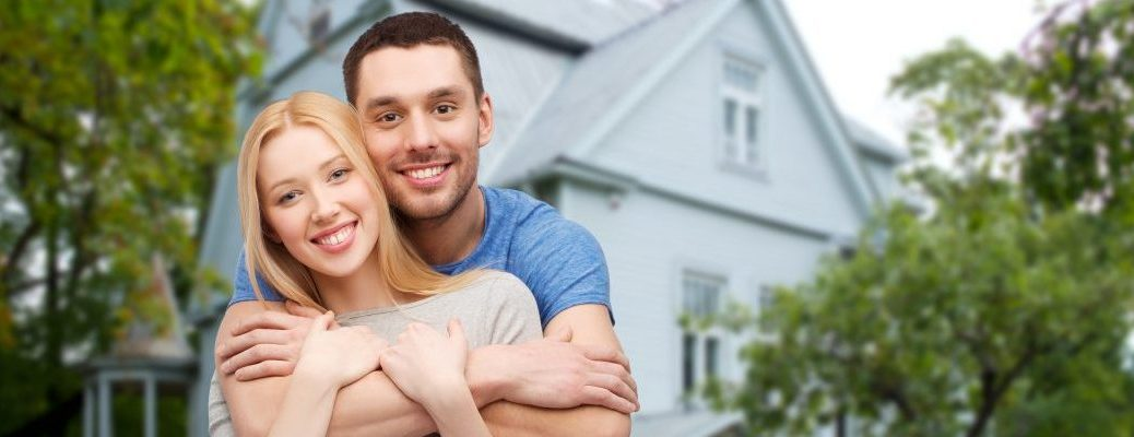 young couple buy house together