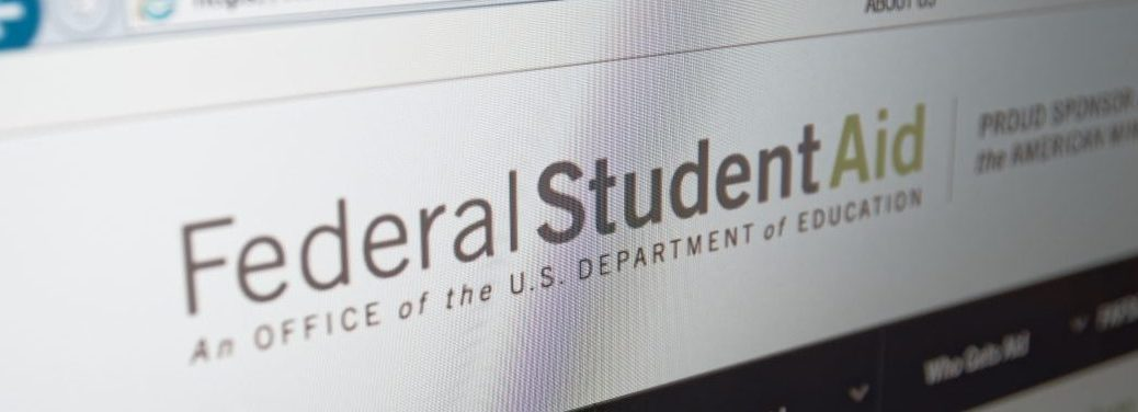 United States Federal Student aid website on computer browser